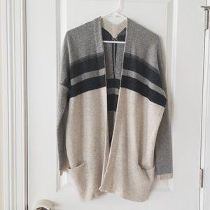 Vince sz S Grey Wool/Cashmere Blend Cardigan